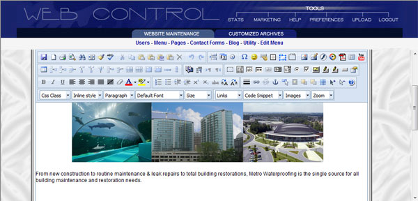 Web Control Content Manager